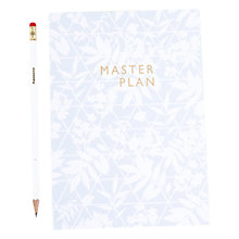 Buy Abigail Warner A5 Master Plan Notebook, Blue and Green Online at johnlewis.com