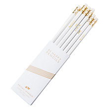 Buy Abigail Warner Be Happy Pencils, Pack of 6, White and Gold Online at johnlewis.com