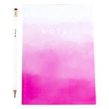 Buy Abigail Warner A5 Notebook, Pink Ombre Online at johnlewis.com