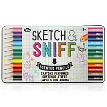 Buy Natural Products Sketch and Sniff Pencils, Pack of 12 Online at johnlewis.com