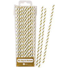 Buy Talking Tables Gold Straws, Pack of 30 Online at johnlewis.com