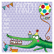 Buy Rachel Ellen Crocodile Party Invitations, Pack of 8 Online at johnlewis.com