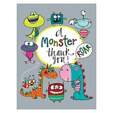 Buy Rachel Ellen Monster Thank You Notecards, Pack of 5 Online at johnlewis.com