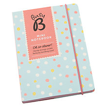 Buy Busy B Pocket A6 Notebook, Blue Spotted Online at johnlewis.com