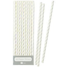 Buy Talking Tables Paper Straws, Pack of 30, Silver Online at johnlewis.com