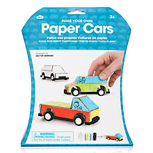 Buy Natural Products Paper Cars Kit Online at johnlewis.com