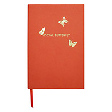 Buy Knock Knock Social Butterfly A5 Notebook, Orange Online at johnlewis.com