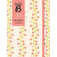 Buy Busy B To Do Notes, Pink Floral Online at johnlewis.com