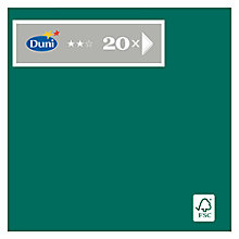 Buy Duni Plain Green Napkins, Pack of 20 Online at johnlewis.com
