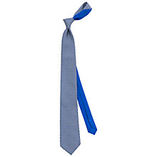 Buy Thomas Pink Raccoon Print Silk Tie, Blue/Grey Online at johnlewis.com