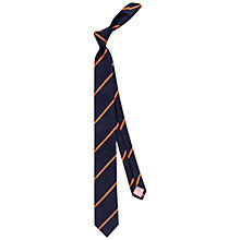 Buy Thomas Pink Club Stripe Skinny Tie Online at johnlewis.com
