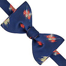 Buy Thomas Pink Tyndale Silk Self Tie Bow Tie, Navy/Red Online at johnlewis.com