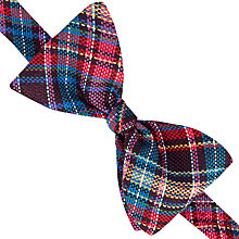 Buy Thomas Pink Allington Check Self Tie Silk Bow Tie, Pink/Blue Online at johnlewis.com
