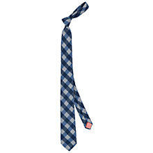 Buy Thomas Pink Dante Check Wool Tie, Blue/Grey Online at johnlewis.com