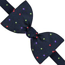 Buy Thomas Pink Wentworth Spot Self Tie Silk Bow Tie, Navy/Red Online at johnlewis.com