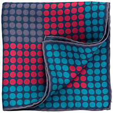 Buy Thomas Pink Square Dot Silk Pocket Square, Deep Red/Grey Online at johnlewis.com
