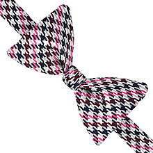 Buy Thomas Pink Purcell Check Silk Self Tie Bow Tie, Stone/Pink Online at johnlewis.com