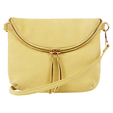 Buy Oasis Leather Clover Crossbody Bag, Bright Yellow Online at johnlewis.com