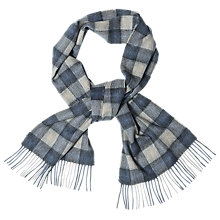 Buy Barbour Gowan Check Scarf, Blue/Grey Online at johnlewis.com