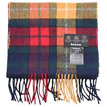 Buy Barbour New Tartan Lambswool Scarf, Multi-coloured Online at johnlewis.com