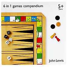 Buy John Lewis 6 in 1 Games Compendium Online at johnlewis.com
