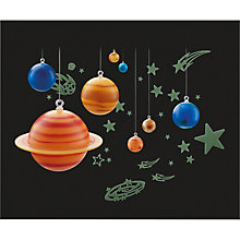 Buy John Lewis Glow In Dark Solar System Online at johnlewis.com