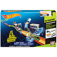 Buy Hot Wheels Workshop Track Builder Play Set, Assorted Online at johnlewis.com
