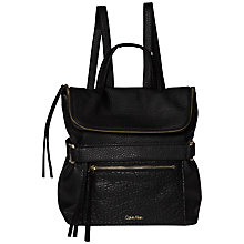Buy Calvin Klein Cecile Leather Backpack, Black Online at johnlewis.com