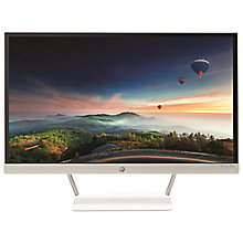 "Buy HP Pavilion 23xw Full HD LED PC Monitor, 23"", Silver & white Online at johnlewis.com"