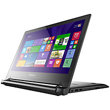 "Buy Lenovo Flex 2 14 Dual-Mode Laptop, Intel Core i3, 4GB RAM, 1TB, 14"" Touch Screen, Black Online at johnlewis.com"