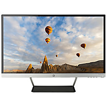 "Buy HP Pavilion 27cw Full HD LED PC Monitor, 27"", Black & silver Online at johnlewis.com"