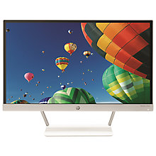 "Buy HP Pavilion 22xw TechniColour Certified IPS Full HD Monitor, 21.5"", Piano White Online at johnlewis.com"