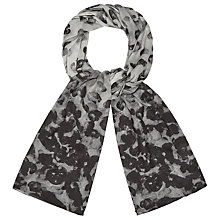 Buy Phase Eight Phoebe Printed Scarf, Charcoal Online at johnlewis.com