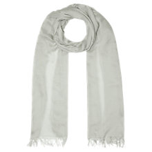 Buy Jigsaw Plain Fringe Edge Scarf Online at johnlewis.com