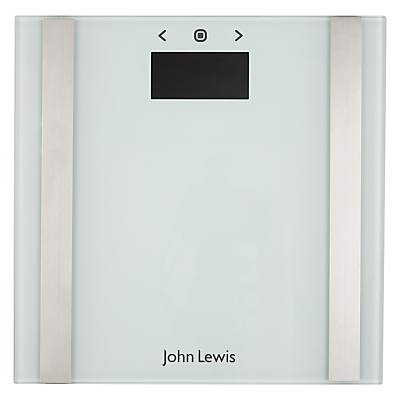 John Lewis White Glass Body Analyser Bathroom Scale