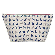 Buy John Lewis Dog Print Wash Bag Online at johnlewis.com