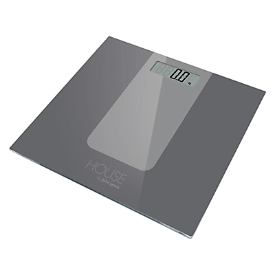 House by John Lewis Digital Bathroom Scale, Grey
