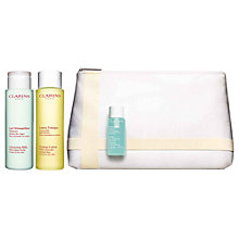 Buy Clarins Cleansing Milk Gift Set, Normal / Dry Online at johnlewis.com