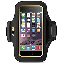 Buy Belkin Slim-Fit Plus Armband for iPhone 6, Black Online at johnlewis.com