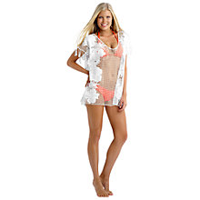 Buy Seafolly Coast To Coast Lace Works Kaftan, White Online at johnlewis.com
