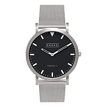 Buy Shore Projects W001S019S Unisex Whitstable Mesh Bracelet Strap Watch, Silver Online at johnlewis.com