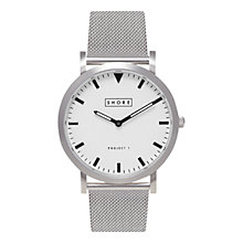 Buy Shore Projects W002S019S Unisex Poole Mesh Bracelet Strap Watch, Silver Online at johnlewis.com