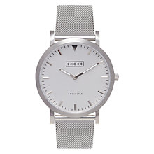 Buy Shore Projects Cowes W006S019S Unisex Mesh Bracelet Strap Watch, Silver Online at johnlewis.com