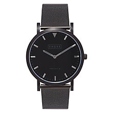 Buy Shore Projects Falmouth W008S018B Unisex Mesh Bracelet Strap Watch, Black Online at johnlewis.com