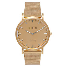 Buy Shore Projects Abersoch W007S020G Unisex Mesh Bracelet Strap Watch, Gold Online at johnlewis.com