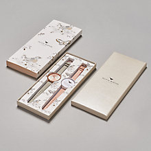 Buy Olivia Burton Women's Leather Strap Watch Gift Set Online at johnlewis.com