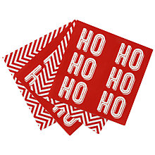 Buy Talking Tables Ho Ho Ho Duo Pack of Paper Napkins, Pack of 20 Online at johnlewis.com