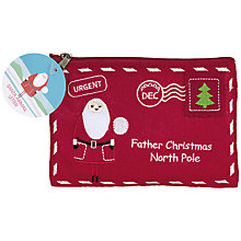 Buy Santa Airmail Pouch With Chocolate Balls, 50g Online at johnlewis.com