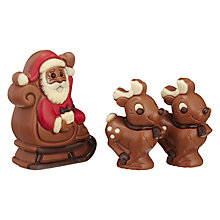 Buy Santa & Two Reindeer Milk Chocolate Figures Online at johnlewis.com