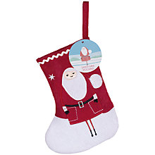Buy Mini Santa Christmas Stocking With Jelly Beans Online at johnlewis.com